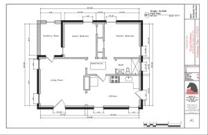 """Pre-renovation floor plans (""""as-built"""" drawings)."""